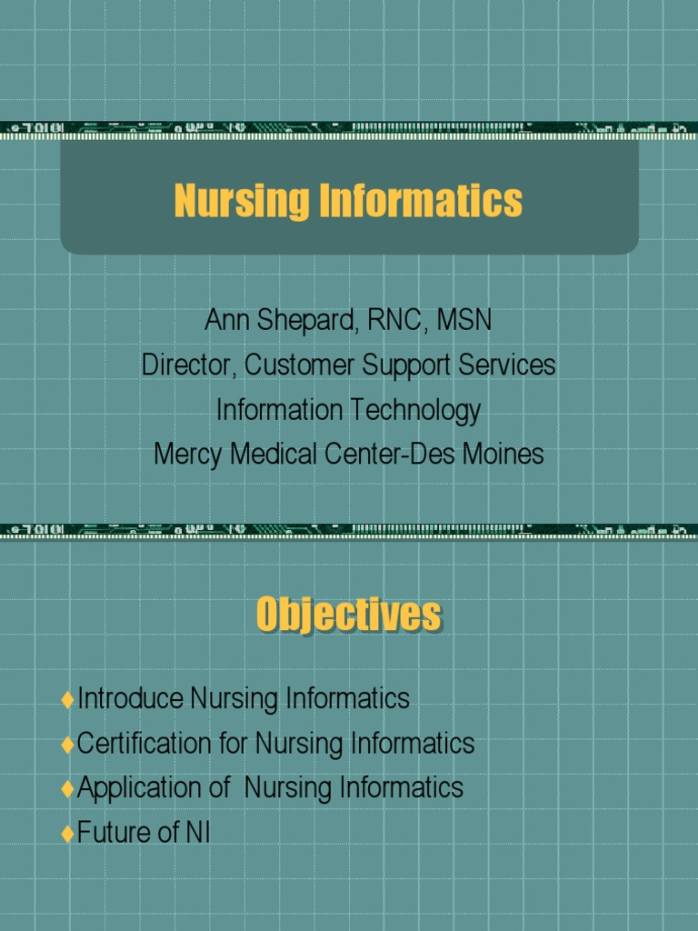Nursing In For Matics Past Present Future Health Informatics Nursing