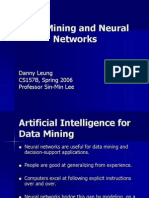 Data Mining and Neural Networks Danny Leung