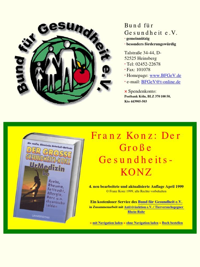 Der Grosse Gesundheits Konz_ UrMedizin H   Franz Konz