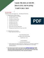 Ujian Praktik TIK Kelas XII IPS