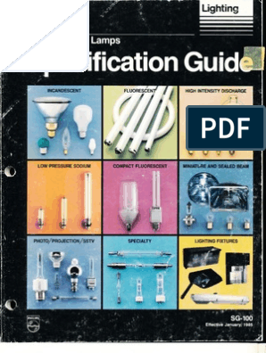 Lamp Lighting Philips Guide Specification 1985 8w0nmN