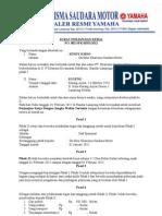 Contoh SURAT PERJANJIAN KERJA (sample Staf Sparepart).doc