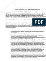 Emotional Problems in Adults With Learning Disabilities