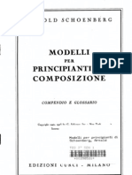 Schoenberg Modelli per Principianti Di Composizione
