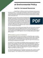NEPA Factsheet Budget FY 2010 4.28.09