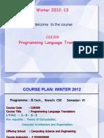 Intro to programming lang and translator