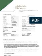 G & M Sole Trader Application