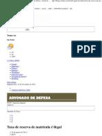 Taxa de reserva de matrícula é ilegal - Advogado de defesa - Jornal da Tarde