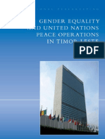 Olsson - Gender Equality and United Nations Peace Operations in Timor Leste