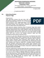 Surat Evaluasi Implementasi SPMI 2010