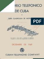 Directorio Telefonico de Cuba 1949 - Cuban Telephone Diretory