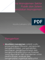 Akuntansi Manajemen Sektor Publik Dan Sistem Pengendalian Manajemen