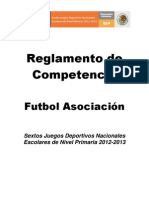 Reglamento Futbol Asociacion 2013