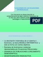 APLICACIONES DE LAS ECUACIOES DIFERENCIALES COMO MODELOS MATEMÁTICOS (1)