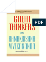 Great Thinkers on Ramakrishna and Vivekananda (291p)