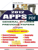 Appsc Previous Papers Subject Wise for Group-i Group-II Other Appsc Exams