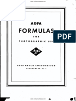 Agfa Formulas for Photographic Use - Year Unknown