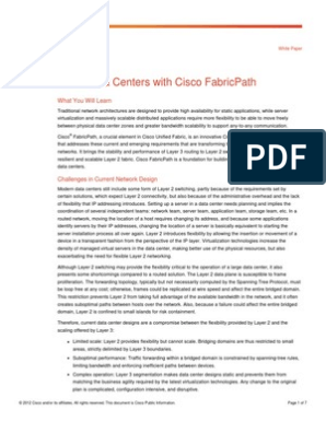 White Paper Cisco FabricPath | Network Switch | Computer Network
