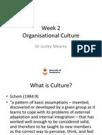 Unit 2 Organisational Culture