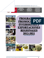 Programa Inversiones Regionales 2012 Documento Final