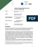 Historia del Desarrollo Empresarial Sección 3 - Carlos Dávila - 201210