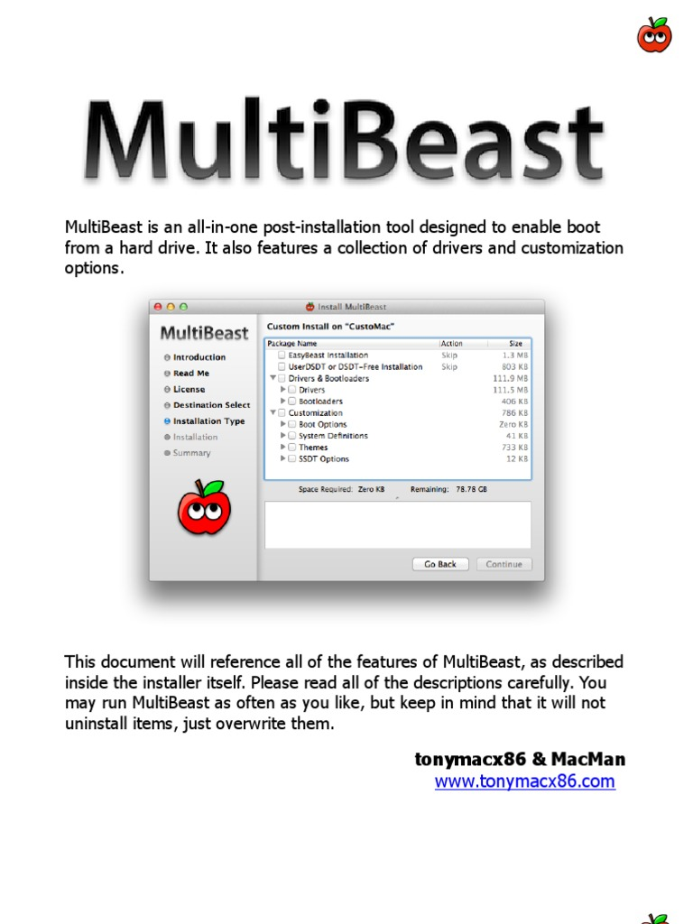 MultiBeast Features 5 1 0 | Booting | Personal Computing