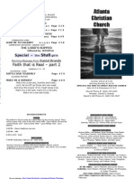 February 17, 2013 Church Bulletin