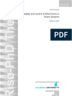 Stability and Control of Wind Farms in Power Systems