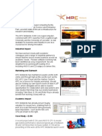 HPC Midlands E-Infrastructure Impact Report to EPSRC / BIS