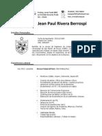 Cv Sist Jean Paul Rivera Berrospi