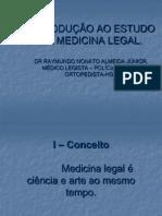 1. Introdução ao Estudo da Medicina Legal