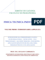 (eBook - Ita - Fisica) Cammarata, Giuliano - Fisica Tecnica Industriale Vol 1 - Termodinamica Applicata (PDF)