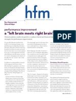 Performance Improvement Article HFM 12-06