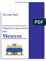 Server Training Manual - Spanish
