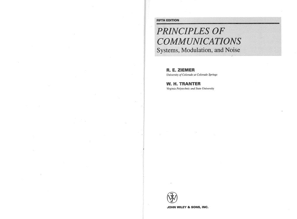 Principles of communications ziemer homework 5th homework involvement parent social study