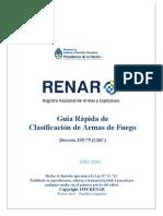 Guía Rápida de Clasificación de Armas de Fuego