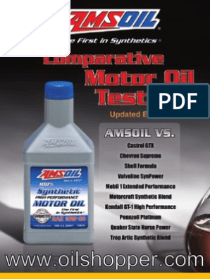 Motor Oil Test Results synthetic and conventional | Motor