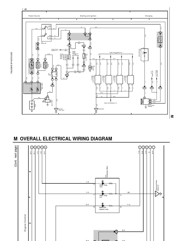 scion xb 2005 overall wiring diagram rh es scribd com 2008 Scion xB Engine Diagram 2006 Scion xB Fog Lights
