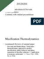 Micellization Thermodynamics