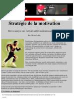 Sport Performance Psychologie Lafay Strategie de La Motivation