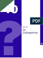 40 Ciclosporina - A