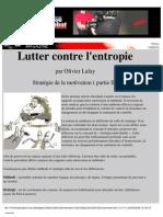 Sport - Performance - Psychologie - Lafay - Lutter Contre l'Enthropie
