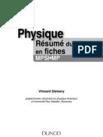 Physique résumé du cours en fiches MPSI-MP