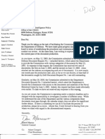 9/11 Commission Letter to Department of Defense Complaining about Lack of Documents Produced