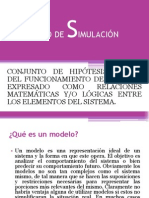 REPRESENTACIÓN MODELO DE SIMULACIÓN