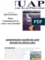 Contaminacion de Suelos Anivel Mundial