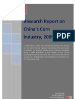 Research Report on China's Corn Industry, 2009