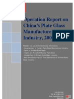 Operation Report on China's Plate Glass Manufacture Industry, 2009