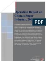 Operation Report on China's Sugar Industry, 2009