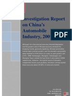 Investigation Report on China's Automobile Industry, 2009